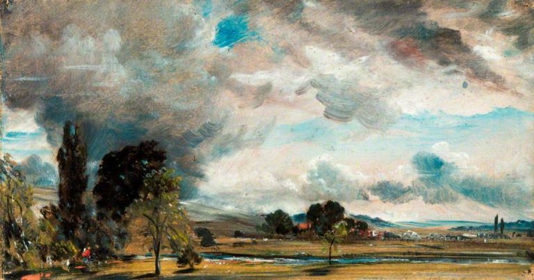A View at Salisbury from the Library of Archdeacon Fishers House | John Constable | oil painting