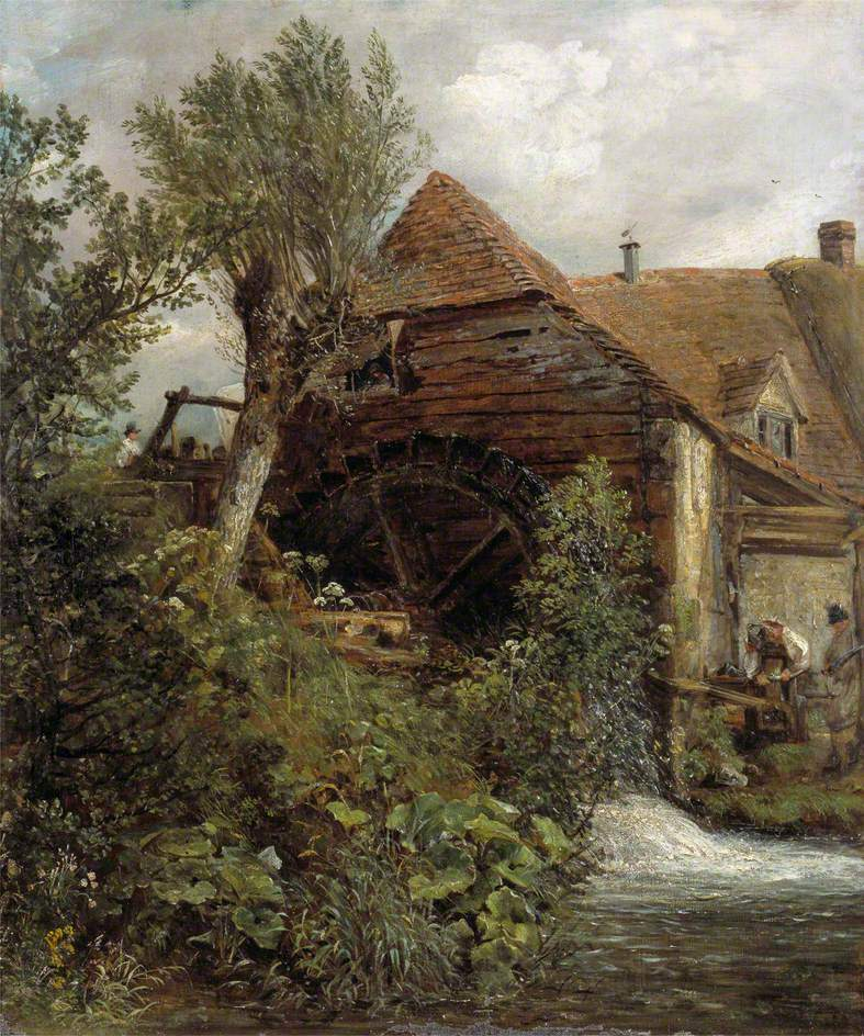 A Watermill at Gillingham Dorset | John Constable | oil painting