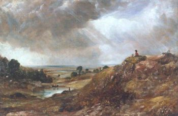 Branch Hill Pond Hampstead Heath with a Boy Sitting on a Bank | John Constable | oil painting