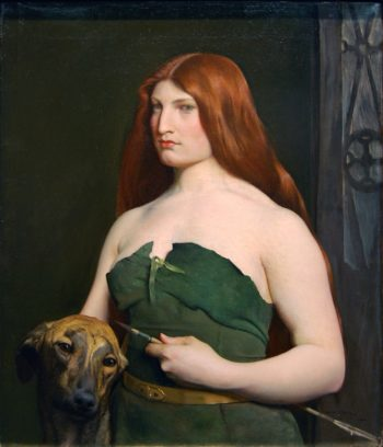 A Celtic Huntress | George de Forest Brush | oil painting
