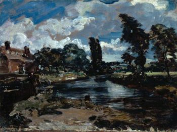 Flatford Mill from a Lock on the Stour | John Constable | oil painting