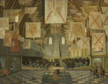 The Knights of the Courtyard during the Great Assembly of 1651. ca. 1651 | Bartholomeus van Bassen | oil painting