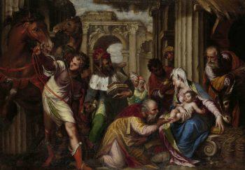 The Adoration of the Magi. ca. 1585 | Paolo Farinati | oil painting