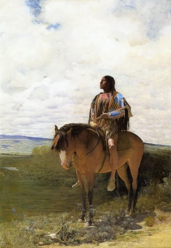 The Sioux Brave | George de Forest Brush | oil painting