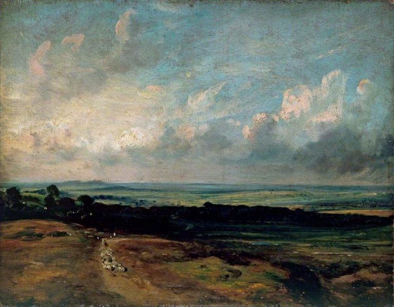 Hampstead Heath Harrow in the Distance | John Constable | oil painting