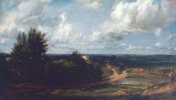 Hampstead Heath with the House Called the Salt Box | John Constable | oil painting