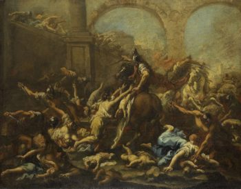 The infanticide in Bethlehem. 1715 - 1740 | Alessandro Magnasco | oil painting