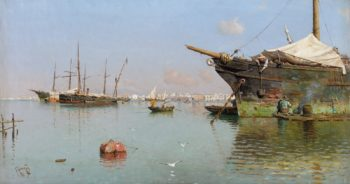 Port | Gillermo Gomez Gil | oil painting