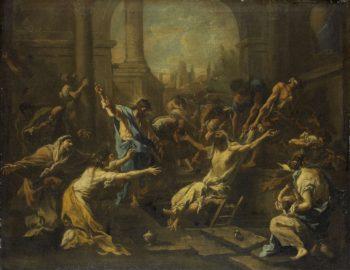 The Raising of Lazarus. 1715 - 1740 | Alessandro Magnasco | oil painting