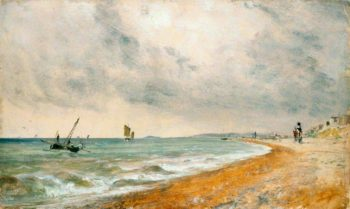 Hove Beach with Fishing Boats | John Constable | oil painting