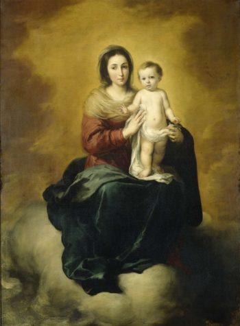 Virgin and Child. 1660 - 1680 | Bartolom? Esteban Murillo | oil painting