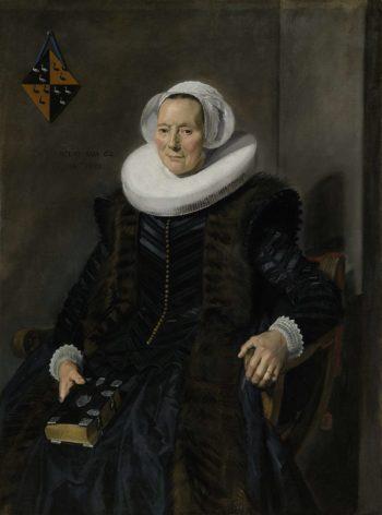 Portrait of Maritge Claesdr Vooght. 1639 | Frans Hals | oil painting