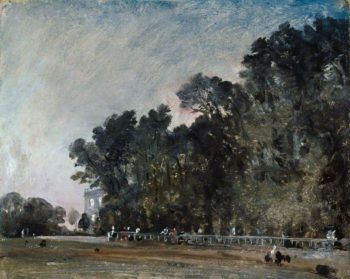 Landscape Study Scene in a Park | John Constable | oil painting