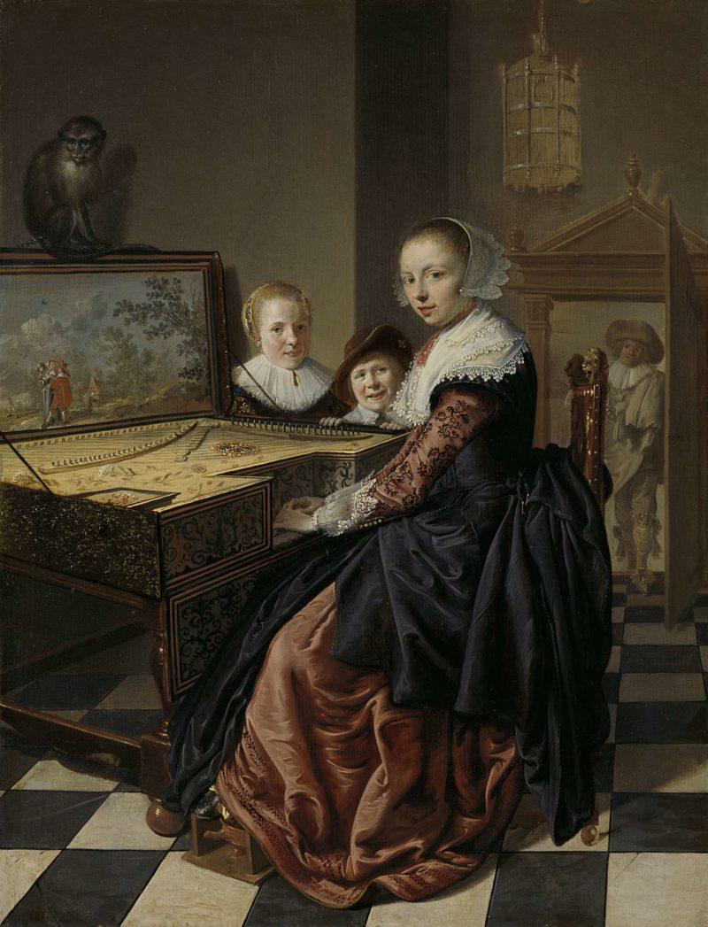 Woman at the Virginal. 1630 - 1640   Jan Miense Molenaer   oil painting