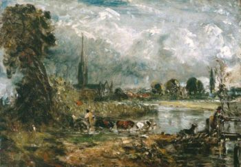 Salisbury Cathedral and Leadenhall from the River Avon | John Constable | oil painting