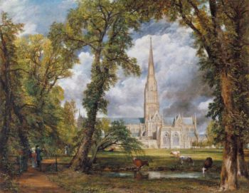 Salisbury Cathedral from the Bishops Grounds | John Constable | oil painting