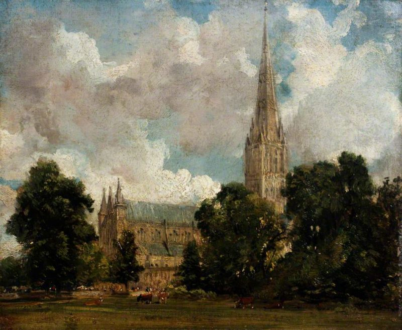 Salisbury Cathedral from the South West | John Constable | oil painting