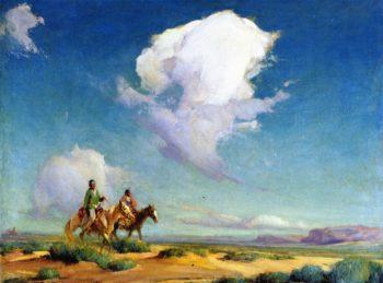 Navajo Travelers | Ira Diamond Gerald Cassidy | oil painting