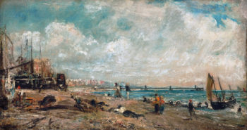 Sketch for The Marine Parade and Chain Pier Brighton | John Constable | oil painting