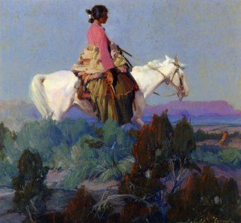 Shepherdess of the Hills | Ira Diamond Gerald Cassidy | oil painting