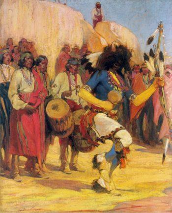 The Buffalo Dancer | Ira Diamond Gerald Cassidy | oil painting