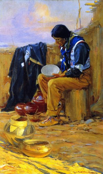 The Pottery Maker | Ira Diamond Gerald Cassidy | oil painting