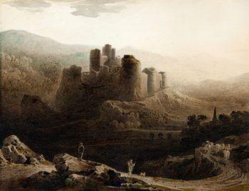 Chepstow Castle | John Martin | oil painting