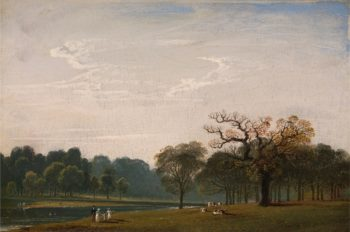 Kensington Gardens I | John Martin | oil painting