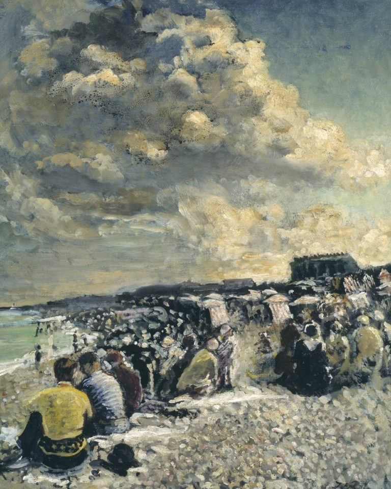 August Morning Dieppe Beach | Jacques Emile Blanche | oil painting