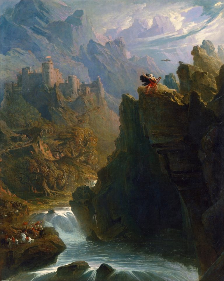 The Bard | John Martin | oil painting