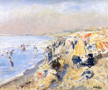 The Beach at Dieppe | Jacques Emile Blanche | oil painting