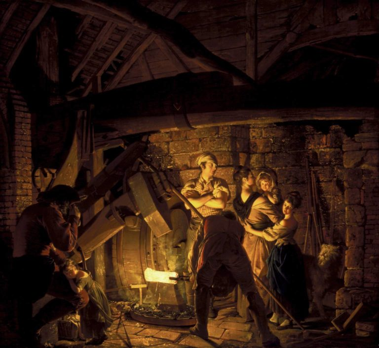 An Iron Forge | Joseph Wright of Derby | oil painting