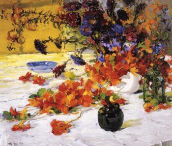 The Black Teapot   Jonas Lie   oil painting