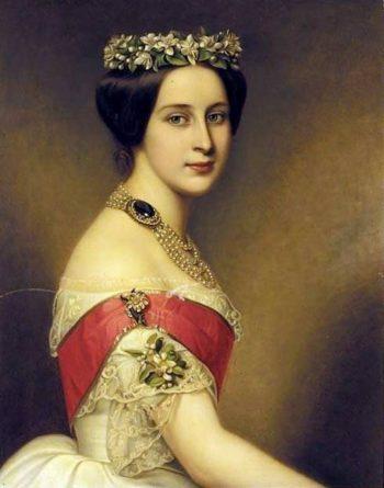 Alexandra Iosifovna   Joseph Karl Stieler   oil painting