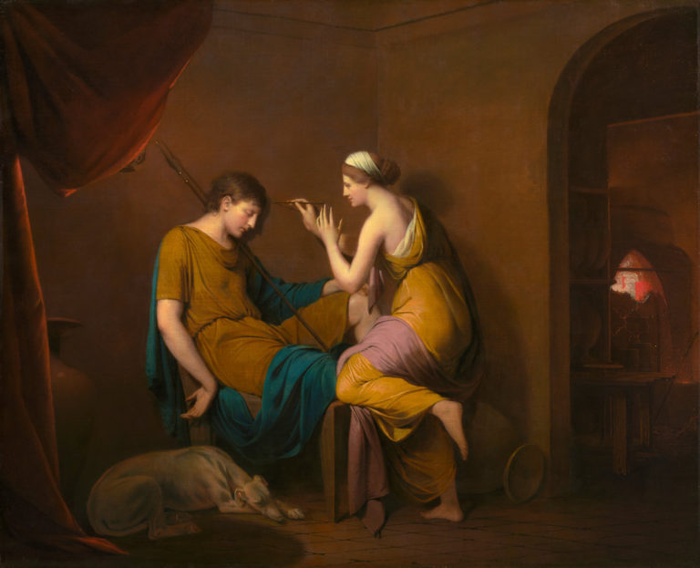 The Corinthian Maid | Joseph Wright of Derby | oil painting