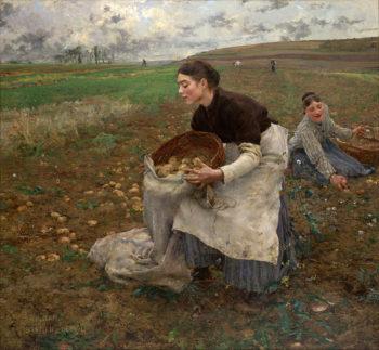 October   Jules Bastien Lepage   oil painting