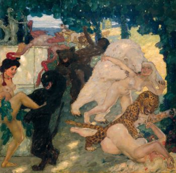 Bacchanale | Leo Putz | oil painting