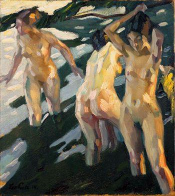 Bathers | Leo Putz | oil painting
