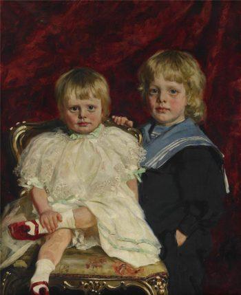 The siblings Anders and Margaret Eek | Knut Ekwall | oil painting
