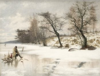 Winter fishing | Knut Ekwall | oil painting