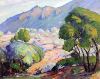 French Landscape with Olive Trees | Lucien Abrams | oil painting