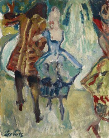 Garden Party (study) | Leo Putz | oil painting