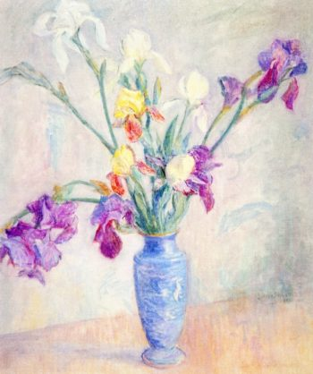 Irises | Lucien Abrams | oil painting