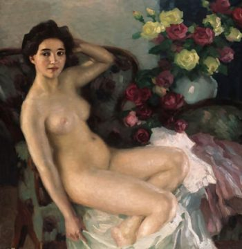 In the Studio | Leo Putz | oil painting