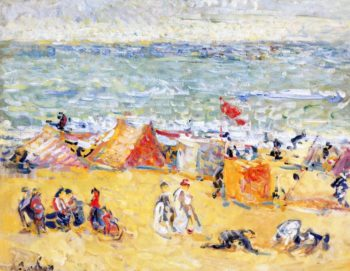 On the Beach | Nicolas Tarkhoff | oil painting