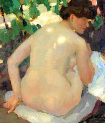 Nude with Back in the Sun | Leo Putz | oil painting
