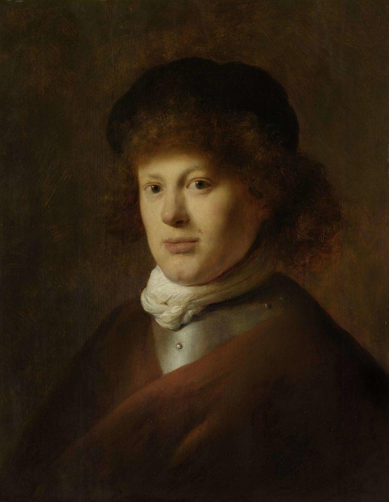 Portrait of Rembrandt van Rijn Harmensz. ca. 1628 | Jan Lievens | oil painting