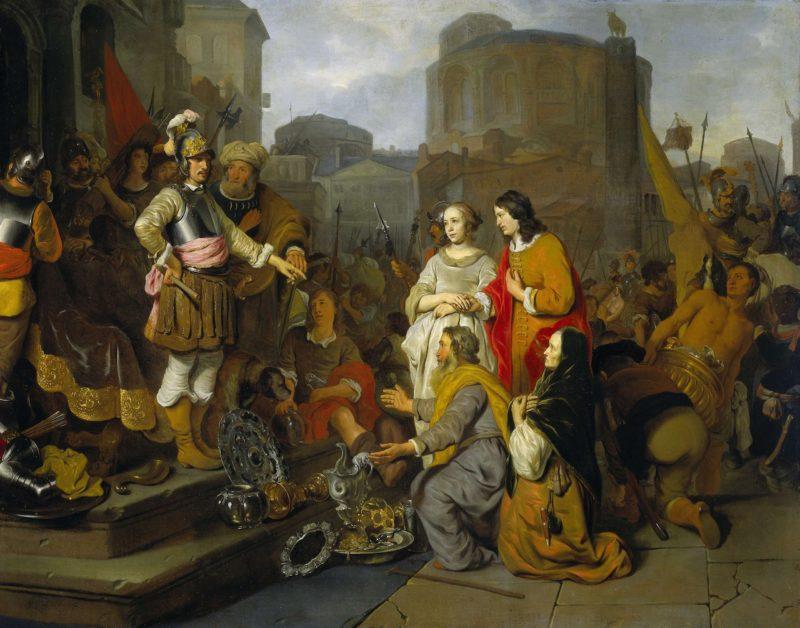 The magnanimity of Scipio. 1650 - 1655 | Gerbrand van den Eeckhout | oil painting