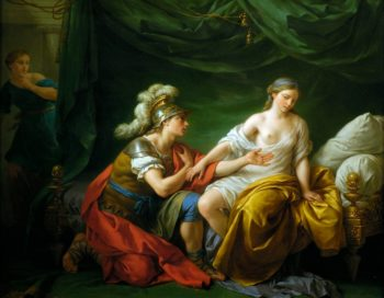 Alcibiade kneeling before his mistress | Louis Jean Francois Lagrenee | oil painting
