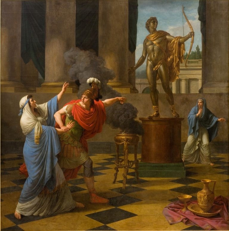 Alexander Consulting the Oracle of Apollo | Louis Jean Francois Lagrenee | oil painting